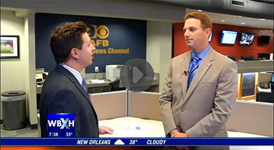Dr. Joseph Griffin was featured on Channel 9 – WAFB's morning show.